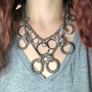 LOFT Metal Double Strand Statement Necklace